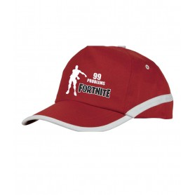 Gorra Fortnite 99 Problems en rojo