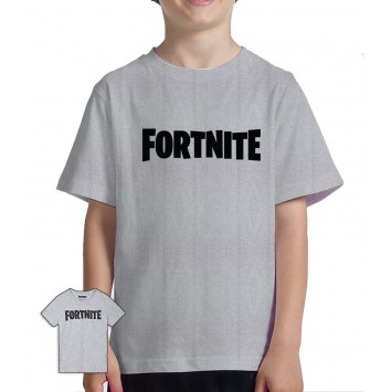 Camiseta Fortnite niño logo® Gris