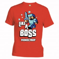 Camiseta Minecraft Like a Boss