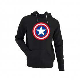 Sudadera Capitán América Logo Clásico Años 80