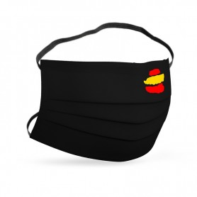 Mascarilla Bandera España Negra