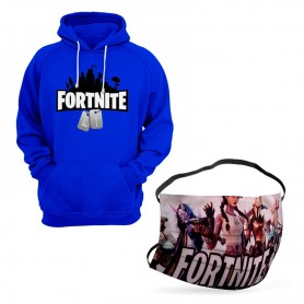 Oferta Sudadera Fortnite Capucha + Mascarilla Fortnite