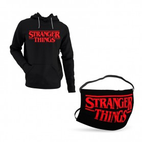Oferta Sudadera Stranger Things Logo + Mascarilla Stranger Things