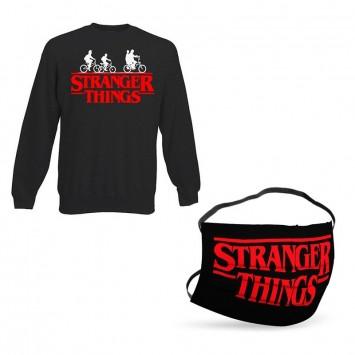 Oferta Sudadera Stranger Things Sin Capucha + Mascarilla Stranger Things