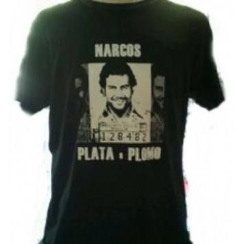 Camiseta Narcos Plata o Plomo Negra
