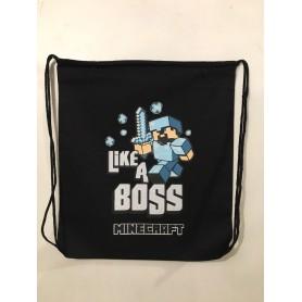 Mochila Algodón Like a Boss | Minecraft