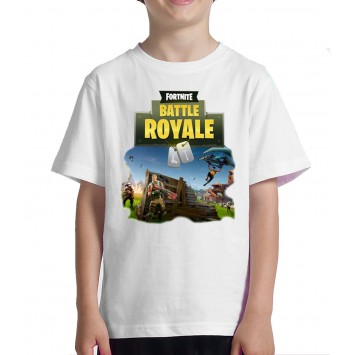 Camiseta para Niño Fortnite BATTLE ROYALE. Tallas para edades de 8 años 10  y 12 445048cc7a331